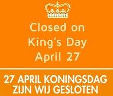 Koningsdag gesloten