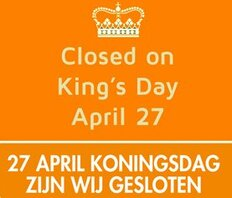 We are closed on King's Day
